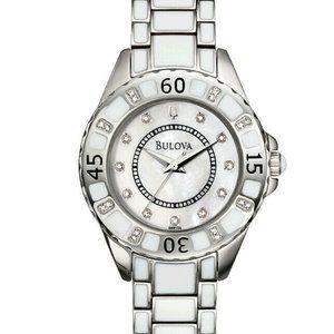 Bulova Crystal 34mm Pearl Watch